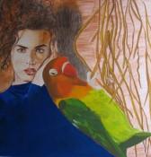 woman_parrot